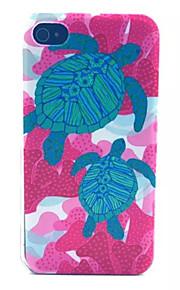 modello tartaruga pc acidato trasparente della copertura posteriore per iPhone 4 / 4S