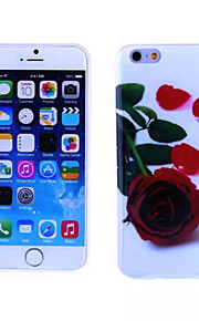 Red Rose Pattern TPU And IMD Soft Case for iPhone 5/5S