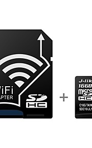 J-Like Wireless WIFI 16GB Class 10 UHS-1 MicroSDHC Memory Card with SD Adapter