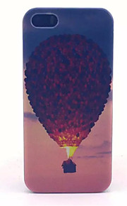 Hot Air Balloon Pattern Transparent Frosted PC Back Cover For  iPhone 5/5S