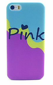 Pink  Pattern Transparent Frosted PC Back Cover For  iPhone5/5S