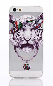Tiger mönster TPU material ringer fallet för iPhone 5 / 5s