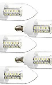5 stk. DAIWL E14 5 W 42 SMD 5730 350 LM Varm hvit/Naturlig hvit Dekorativ Lysestakepære AC 220-240/AC 110-130 V