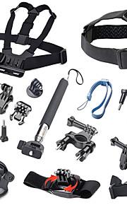 17pcs Gopro Accessories Mount / Monopod / Straps / Screw / Buoy / Suction / Hand Grips ForGopro Hero 1 / Gopro Hero 2 / Gopro Hero 3 /