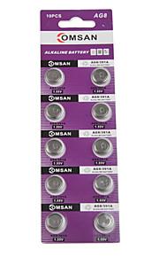 comsan AG8 / lr1120 / 381/191 hoge capaciteit knop batterijen (10st)