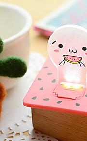 høykvalitets kreative energisparing ideer unplugged batteri liten nattlampe lys kort (tilfeldig farge)