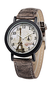 mode luksus vintage ur eiffeltårnet dial træ korn armbåndsure afslappet ur udendørs sport mænd kvinder ure