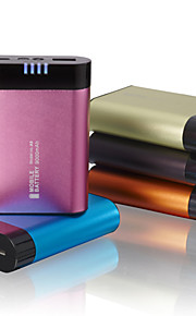 Power Bank 6600mAh led licht aluminium legering shell externe batterij voor alle mobiele apparaten