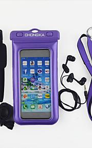 nuovi prodotti caldi per il 2015 IPX8 cassa del telefono impermeabile per iPhone 6 con la cordicella