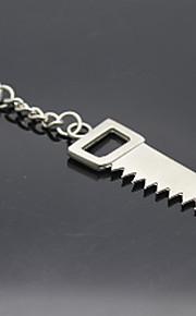 Rustfritt stål verktøy sagger nøkkelring nøkkelkjede holder arrangør for gave