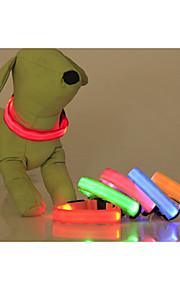 Vandtæt/LED Lys - Nylon - Krave - Rød/Grøn/Blå/Pink/Gul/Orange