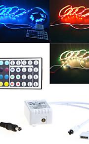 LED lys med 44 nøkkel rgb dc lys bar med et skall