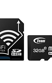 TEAM TF(Micro-SD) Card Class10 (32GB) TUSDH32GCL Memory Card With WIFI SD Adapter