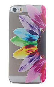 Colorful Half Flower Pattern Ultrathin Hard Back Cover Case for iPhone 5/5S