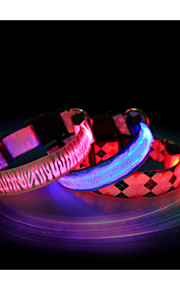 Vandtæt/LED Lys - Nylon - Krave - Rød/Blå/Pink