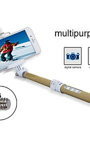 Carbon Fiber Bluetooth Wireless Remote Selfie Stick, Adjustalbe Zoom Bluetooth Remote Handheld Mount For IPhone6