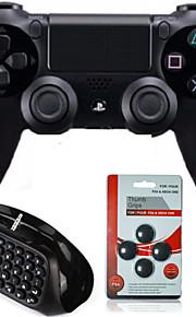 Dual Shock Wireless Bluetooth Game Controller +Mini Bluetooth Wireless Keyboard + Rocker cap for Sony PS4