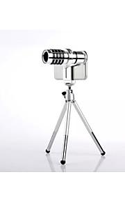 universella 12x optisk zoom teleskop kameralins för alla smarta telefonen iPhone 6 plus 5 5s 4 samsung galaxy S5 S4 s3