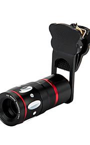 Universal 4 i 1 klämma + 0.67x bred + makro + 180 ° fisk ögats lins + 10x mobiltelefon lins