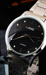 женщин досуг круглый бриллиант набором шт движение из нержавеющей стали ремешок моды водонепроницаемый кварцевые часы