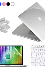 """Enkay 4 in 1 crystal beschermhoes + screen protector + keyboard film + anti-stof stekkers voor macbook pro retina 15.4 """""""