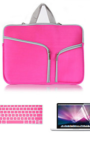"""business 3 em 1 saco de corpo inteiro com flim teclado e protetor de tela hd para macbook retina 13,3 """"(cores sortidas)"""