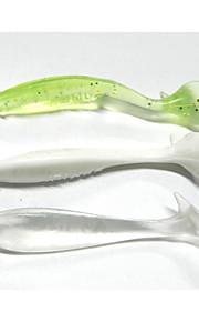 9pcs 80mm/5g Soft Plastic Worm Fishing Lures Soft Baits