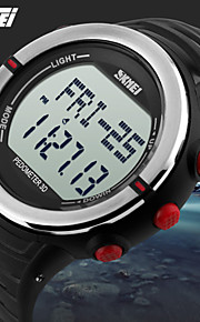 skmei® resistente unisex esportes digitais relógio pedômetro / monitor de freqüência cardíaca / cronógrafo / alarme / água