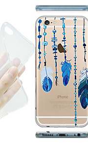 MAYCARI® Feather Curtain Transparent Soft TPU Back Case for iPhone 6