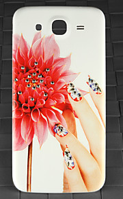 Drill and Rose Finger Pattern PC Back Cover Case for Samsung Galaxy Mega I9152