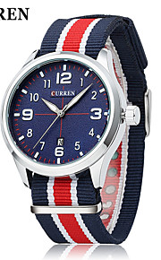 moda relógio de quartzo japonês ocasional colorido nylon tira de tecido dos homens curren®