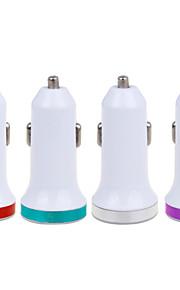 2.1a dubbele metalen usb universele snelle autolader adapter (12-24) (verschillende kleuren)