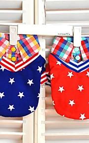 Casacos/Camiseta - Vermelho/Azul - de Algodão - Casamento/Fantasias - para Cães/Gatos