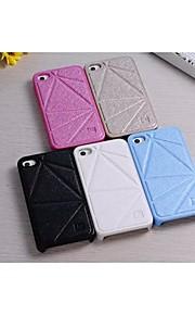 speciellt utformad PU läder tillbaka täcka för iPhone 4 / 4S (blandade färger)