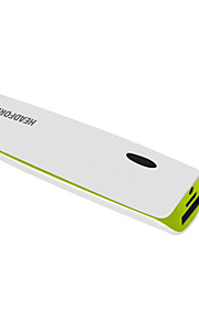 Headfore 3000mah Power Bank External Battery For Apple,Samsung Smart Phones And Any USB Device - Green with White