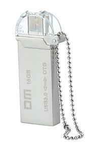 dm pd009 16gb usb unidade otg impermeável 3.0 + micro usb flash para telefones inteligentes&computador - prata