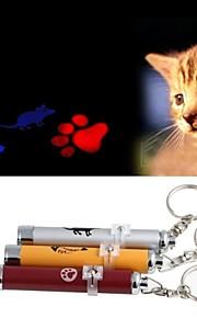 grin med pets® morsom laser spille stick til kæledyr katte (assorterede farver)