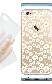 MAYCARI® Sea of White Flowers Transparent Soft TPU Back Case for iPhone 6