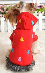 FUN OF PETS® Colourful Little Bears Pattern Hoodie for Pets Dogs (Assorted Sizes and Colours)