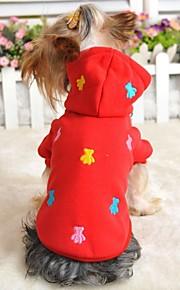 Casacos/Camiseta/Camisola com Capuz - Vermelho/Azul/Amarelo/Cinzento - de Algodão - Casamento/Fantasias - para Cães/Gatos