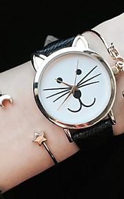 vaquinha assistir mulheres relógios relógio gato couro relógio relógio de pulso relógio do vintage jóias acessórios
