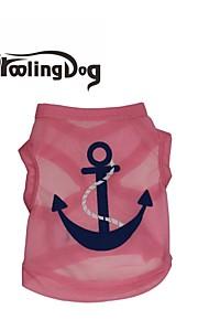 Blå/Rosa Terylene - T-shirt - till Hundar/Katter