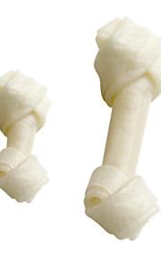 100-procent naturlige porkhide hvide knudrede ben til hunde