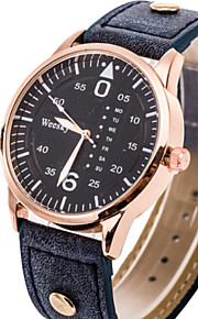 Men's Watch Fashion Watch Simple Style Golden Round Dial