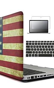 3 in 1 nationale vlag soft-touch plastic harde geval dekking&toetsenbord cover&screen protector voor MacBook Pro 12 ''