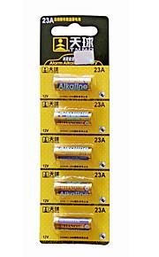 tianqiu 5pcs 23a 12v alkaline batterij voor draadloze deurbel / afstandsbediening / alarm