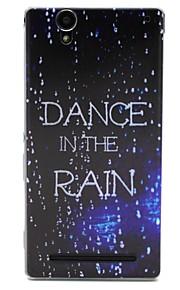ballo nel modello di pioggia TPU custodia morbida per Sony t2