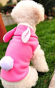 FUN OF PETS® Lovely Pink Rabbit Shape Costume Coat with Hoodie for Pets Dogs(Assorted Sizes)