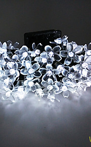 solar 7m 50led fancy plast blomst streng lyser vanntett lys