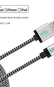 MFI certyfikat rzeźbić 4 stóp (1,2 m) piorun do kabla USB do synchronizacji i ładowania do Apple iPhone 5 / 5s / 6/6 plus / ipad mini